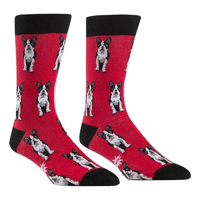 Sock It To Me Boston Terrier tripulación Calcetines, Calcetines para Perros. para Hombres Una Talla le Queda a la mayoría: Amazon.es: Ropa y accesorios