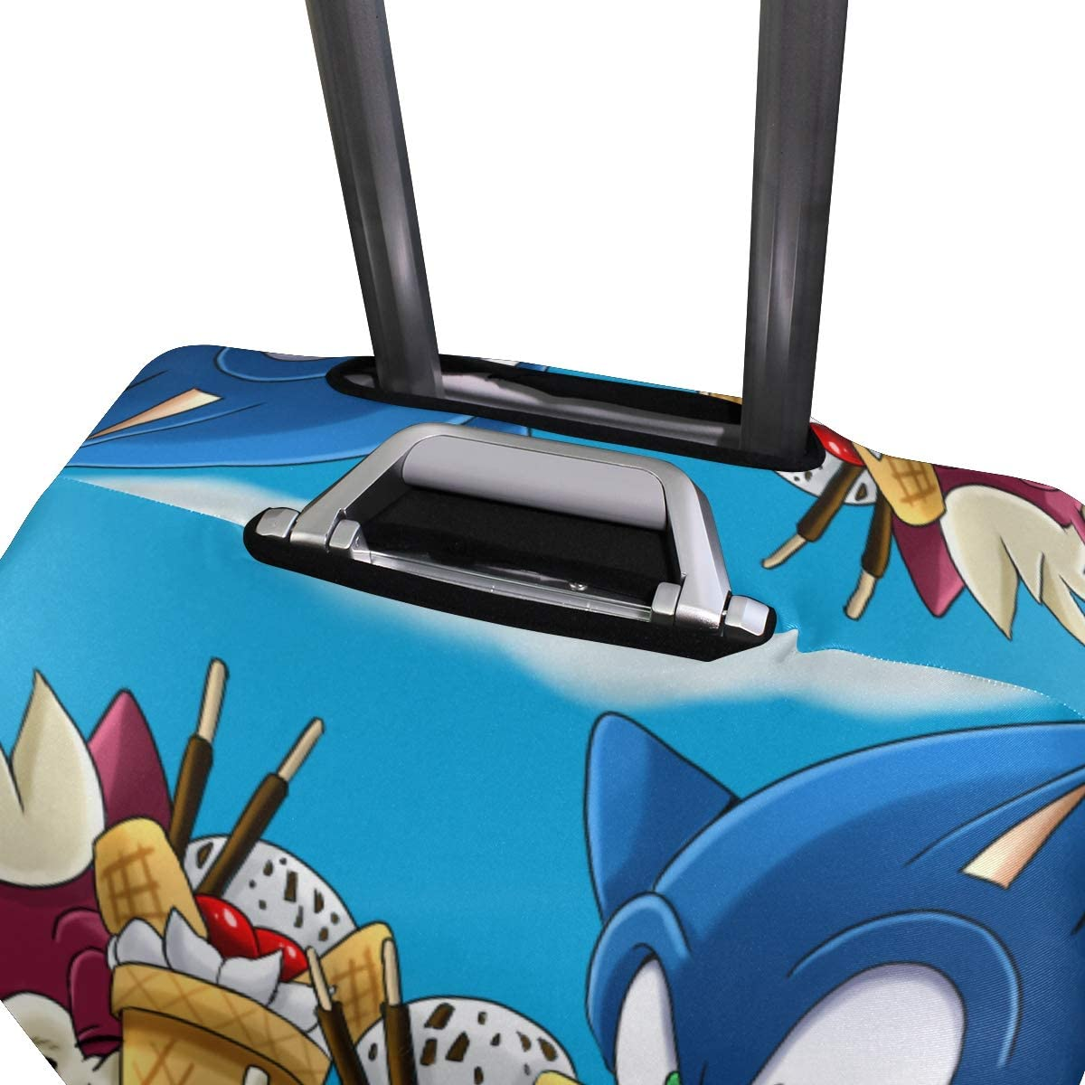 Sonic And Chip Travel Luggage Cover Suitcase Protector Fits 26-28 Inch Washable Baggage Covers