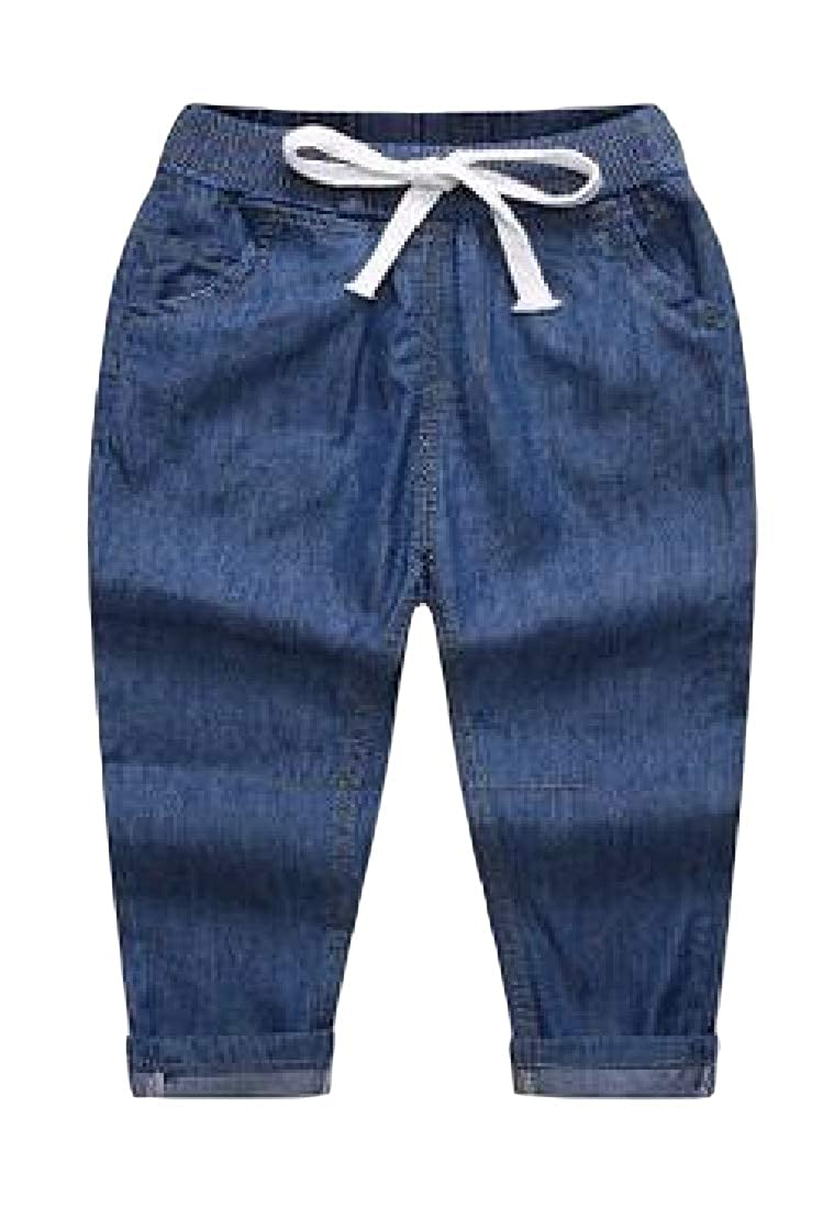 Etecredpow Boys Casual Summer Slim Fit Denim Thin Jeans Pant