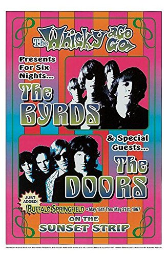 The Doors Concert Poster - Old Tin Sign Concert Posters Bird And The Doors