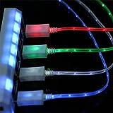 ekill 4PCS Glow in the Dark Light Up LED Lightning Ladekabel für iPhone 77Plus 55S 66Plus iPhone LED Kabel iPhone 7LED Kabel Ladekabel LED iPhone iPhone 6LED Kabel