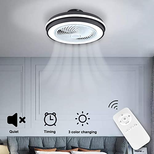 SHENGQINGTOP Modern LED Remote Ceiling Fan