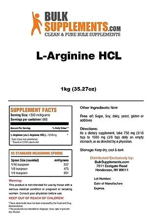 BulkSupplements L-Arginine HCL Powder 1 Kilogram