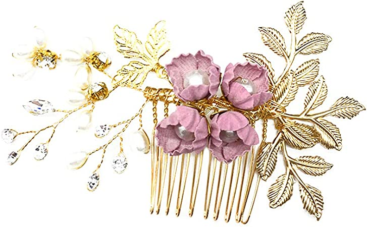 NEW Rose Flower Glitter Wrist Corsage Brooch Clip Party Wedding Hair Ornaments