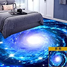 lzzfw Wall Stickers Toilet Floor Waterproof Non - Slip Dimensional 3D Simulation Ceramic Tile Floor Stickers