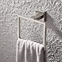 KES SUS 304 Stainless Steel Bath Towel Holder Hand Towel Ring Hanging Towel Hanger Bathroom Accessories Contemporary Hotel Square Style Wall Mount, Brushed Finish, A2480-2