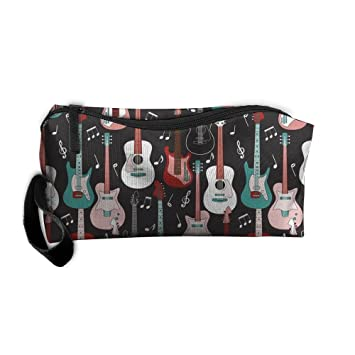 b67396a182aa Amazon.com : Rock And Roll Guitars Women's Travel Cosmetic Bags ...