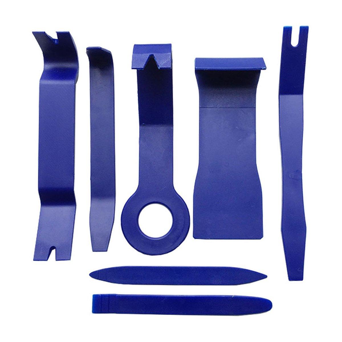 Azul WINOMO Herramientas de Desmontaje para Audio de Coche Extraer tapicer/ías de veh/ículos 7 Piezas