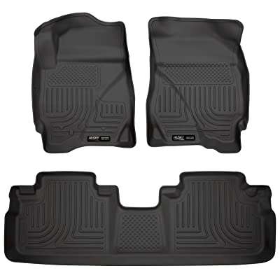 Husky Liners Fits 2009-12 Ford Escape, 2009-11 Mercury Tribute Weatherbeater Front & 2nd Seat Floor Mats: Automotive