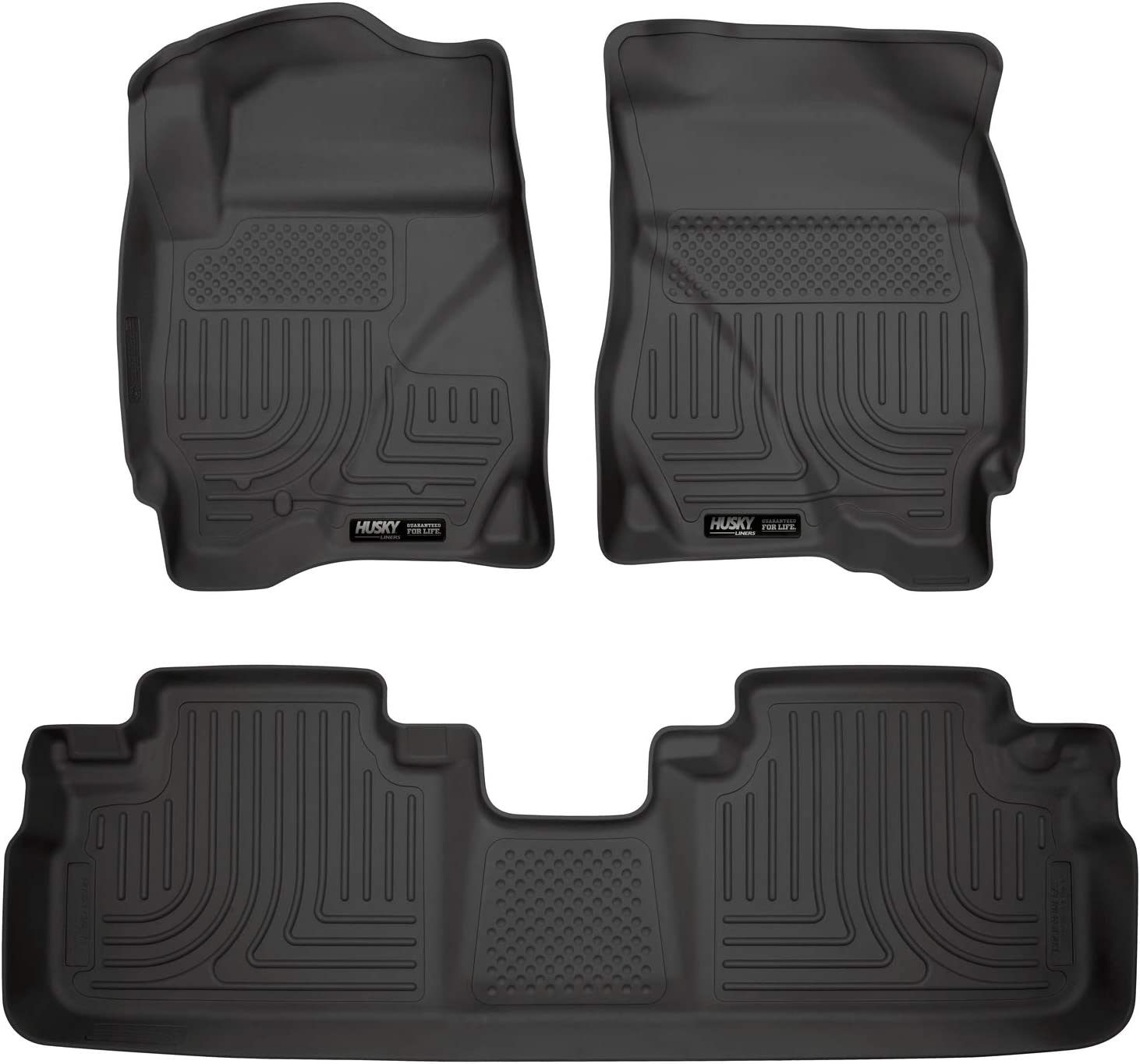 Husky Liners 98351 Custom Fit Front and Second Seat Floor Liner Set for Select Ford//Mazda//Mercury Models Black