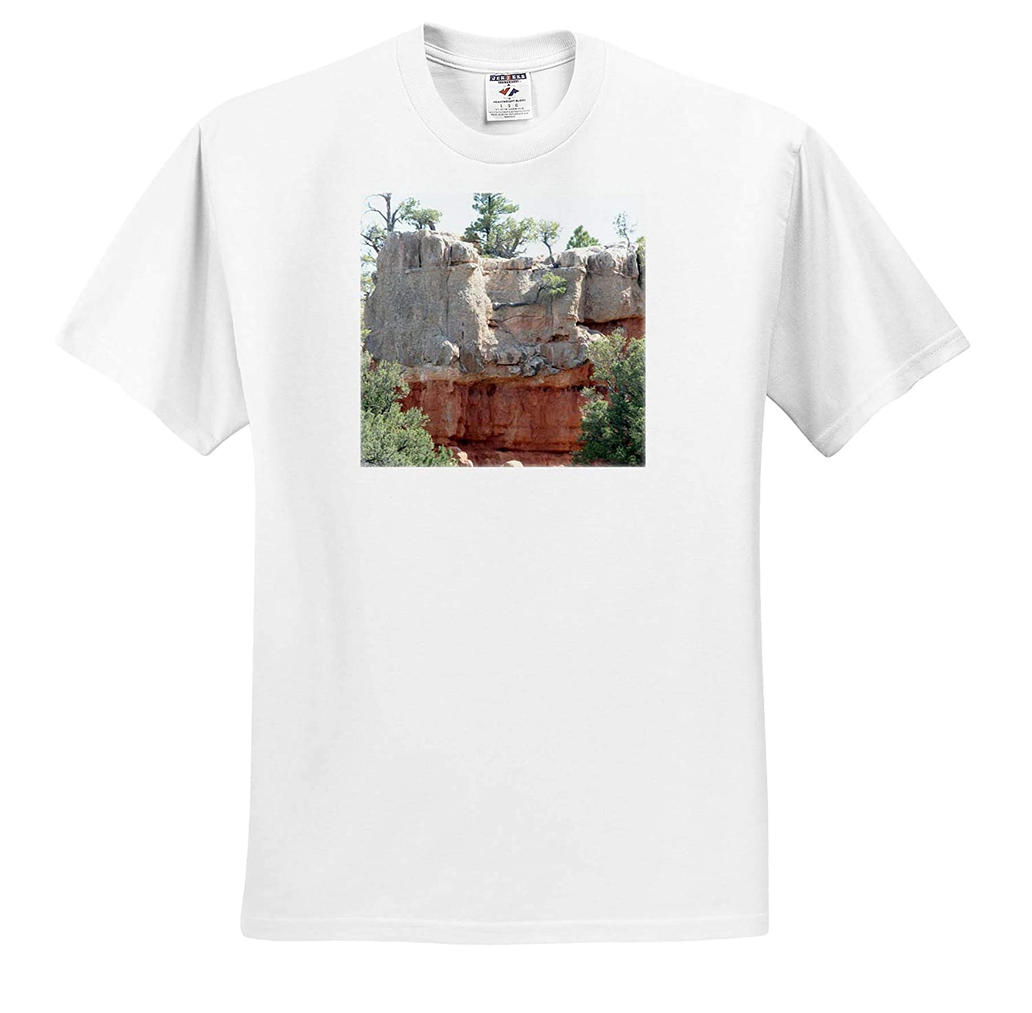 Bryce Canyon with Dark red and White Rock Formations 3dRose Jos Fauxtographee T-Shirts Bryce Canyon
