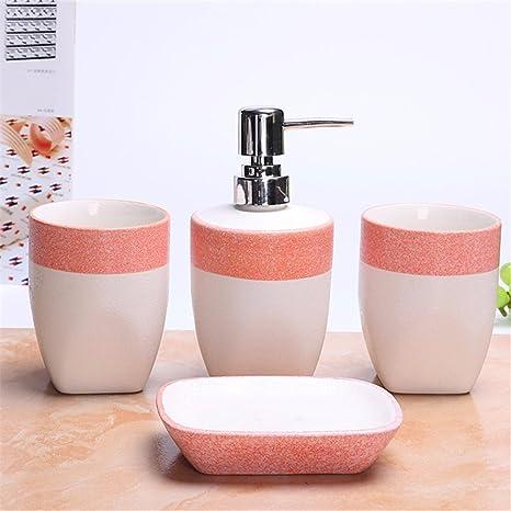 Keramik Accessoires Badezimmer Set, 4 Stück Von Bad ...