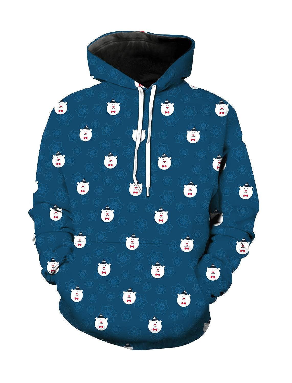 Unisex Long Sleeve Loose Hoodies Sweatshirt Pocket Casual Pullover Tops