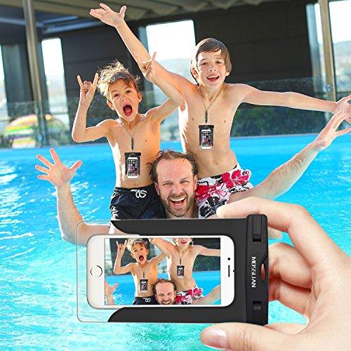 Custodia Impermeabile MOSSLIAN Waterproof Phone Case con Panno in Microfibra per Huawei P10 / P9, iPhone 7/ 7 Plus/ SE / 6s / 6s Plus / 6 / 6 Plus, Samsung S7 / S7 edge / S6 ed altri Cellulari di Appl
