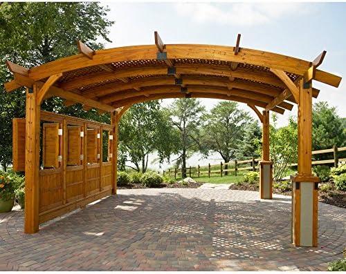 Sonoma arco madera Pérgola 16 x 16 Redwood: Amazon.es: Jardín