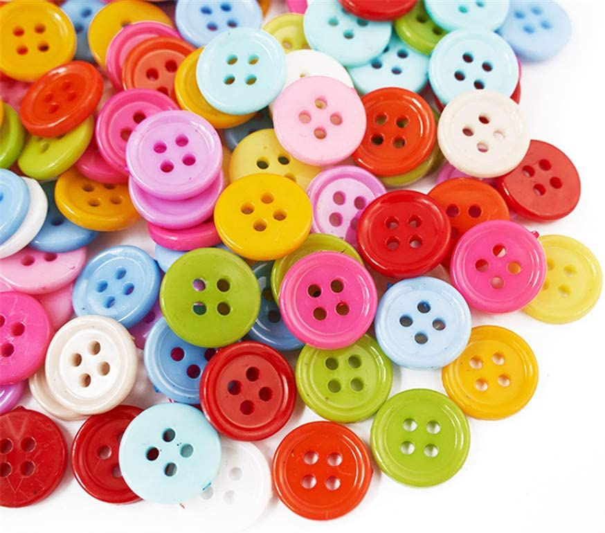 200pcs Resin Blue Star Sewing Buttons decoration scrapbooking crafts 13mm