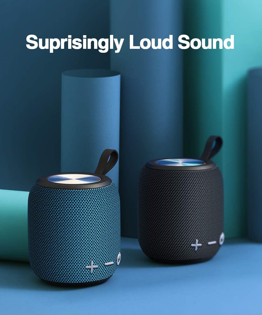 Portable Bluetooth Speaker,SANAG Bluetooth 5.0 Dual Pairing Loud Wireless Mini Speaker, 360 HD Surround Sound Rich Stereo Bass,12H Playtime, IPX6 Waterproof for Travel, Outdoors, Home and Party