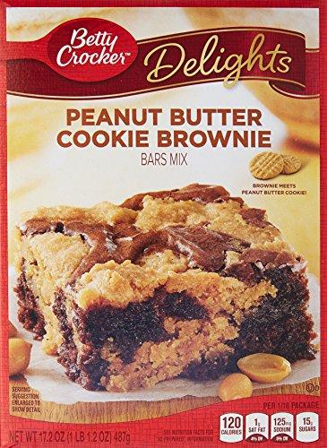 Betty Crocker Delights Mix Peanut Butter Cookie Brownie Bar Mix 17.2 Ounce