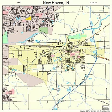Amazon Com Large Street Road Map Of New Haven Indiana In