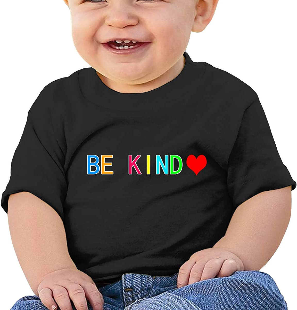 Baby Be Kind Heart Kindness Love Shirts Toddler Cotton Short Sleeves Tee