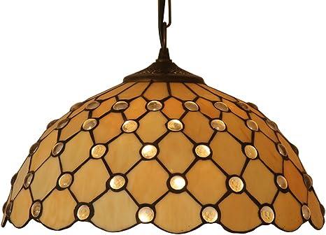 Imagen deOaks Lighting OT 1562/14 P Jewel Tiffany - Lámpara de techo (180 x 350mm)
