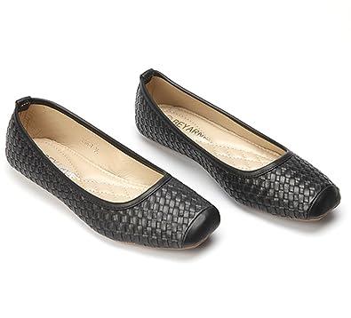 03dde7fa64e CHFSO Women's Retro Square Toe Ballet Flats Woven Pumps Shoes Loafers
