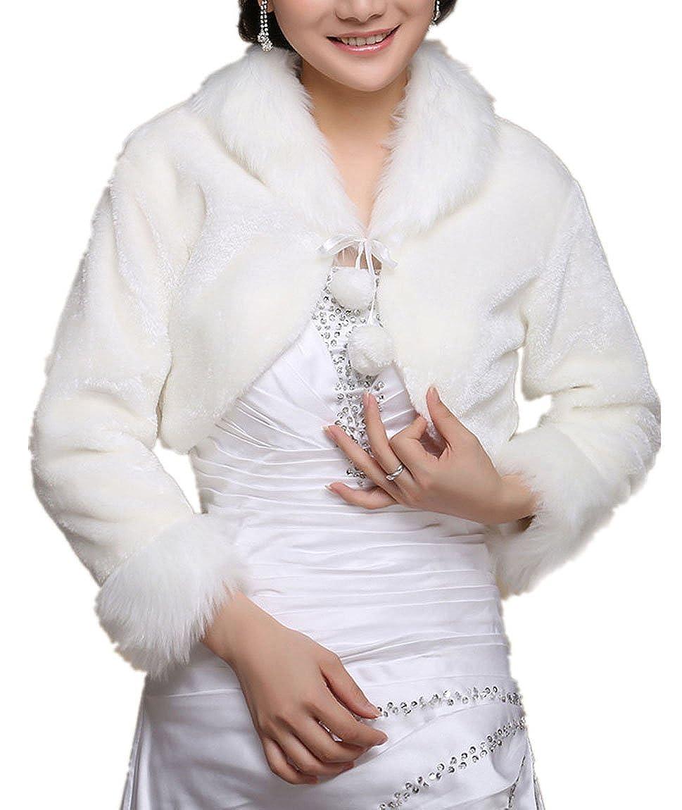 Chickle Women's Winter Warm Long Sleeve Wedding Short Jacket -QLYYPJ043-1