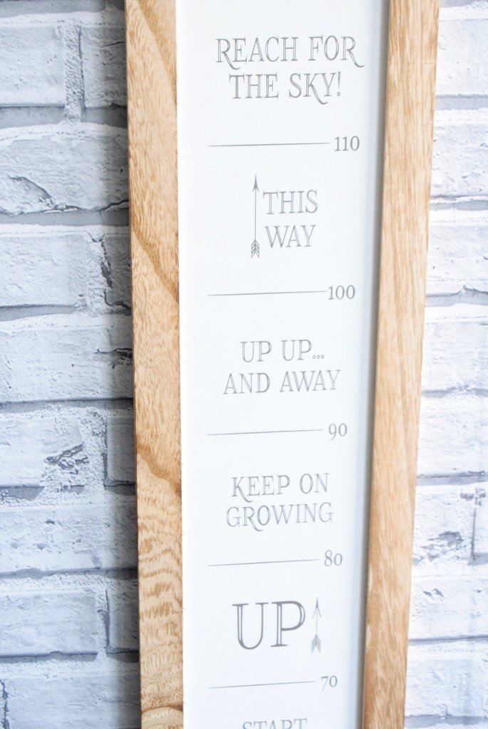 How and When did you Grow so Tall 2m White and Brown Baby Toddler Child Boy Girls Growth Chart Child Childrens Wall Height Chart