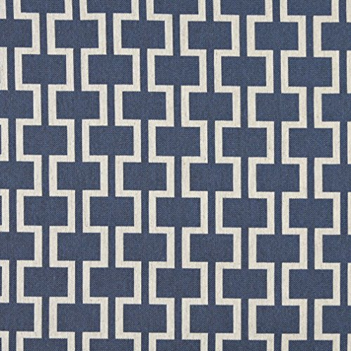 Theatre Designers Costume Modern (A0006E Blue And Off White Modern Geometric Designer Quality Upholstery Fabric By The)