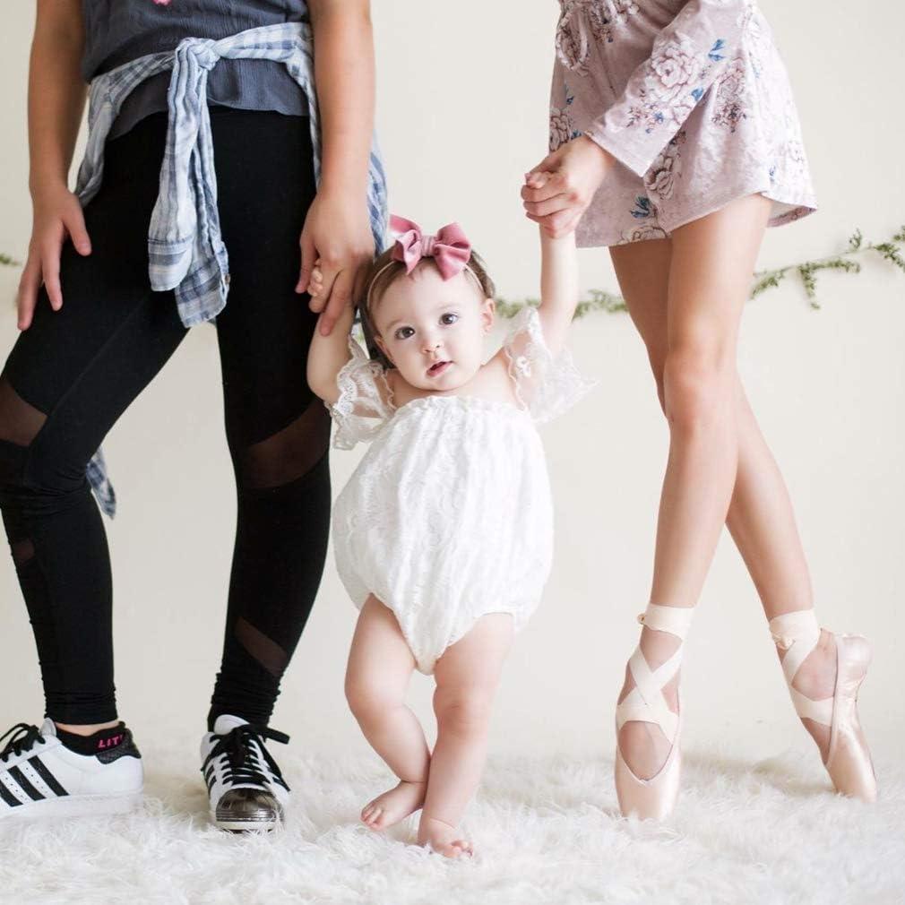 BULINGNA Infant Toddler Baby Girl Off Shoulder Lace Romper Strapless Jumpsuit Sunsuit Outfit
