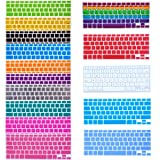Bundle of 15 Semi Transparent Colorful Keyboard Silicone Cover Skin Protector for Macbook 13