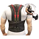 Back Support Belts Posture Corrector Back Brace Improves Posture and Provides For Lower and Upper Back Pain Men and Women (XXL)