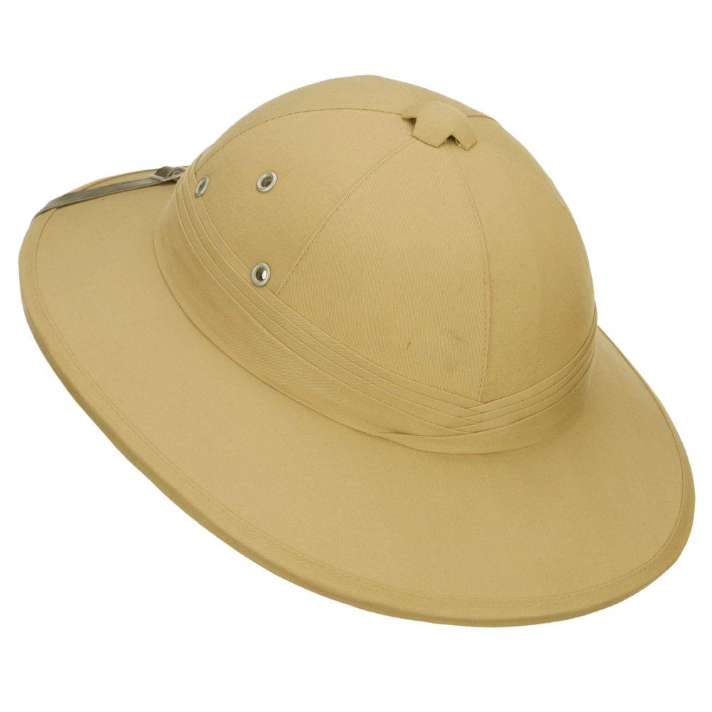 c2d5e37989a1f Amazon.com  French Tree Bark Pith Helmet - Khaki OSFM  Clothing