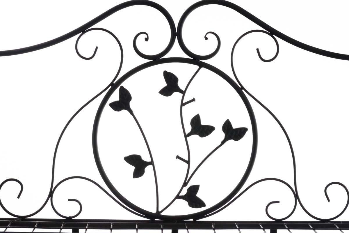 /Étag/ère de Rangement Pliable avec 3 Niveaux CLP /Étag/ère en Fer Reus Stable et Robuste Couleur: Noir /Étag/ère de D/écoration Hauteur Totale 118 cm