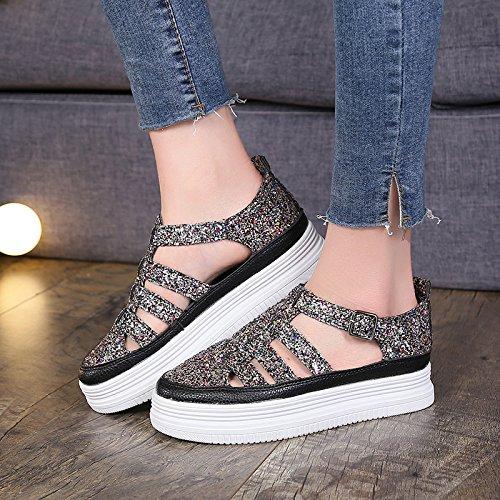 HBDLH Damen Schuhe  Wild Fashion Sandalen Frauen Sommer Wild  Hohl Hohl atmungsaktiv retro Flacher Boden Rom Schuhe e4cc64