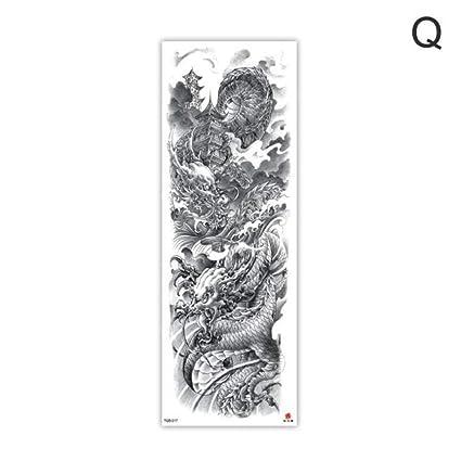 Brazo manga tatuaje boceto león tigre impermeable tatuaje temporal ...
