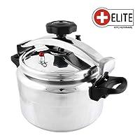 Elite Kitchen Ware–Cocotte à Pression de 7Lt avec valve de sécurité, Joint et poignées pour défibrillateur–Grâce à l'utilisation d'aluminium de haute qualité Cette Marmite est maniable, pratique et robuste, idéal pour être utilisée de personnes de tous les âges–7litres L 7L–127200