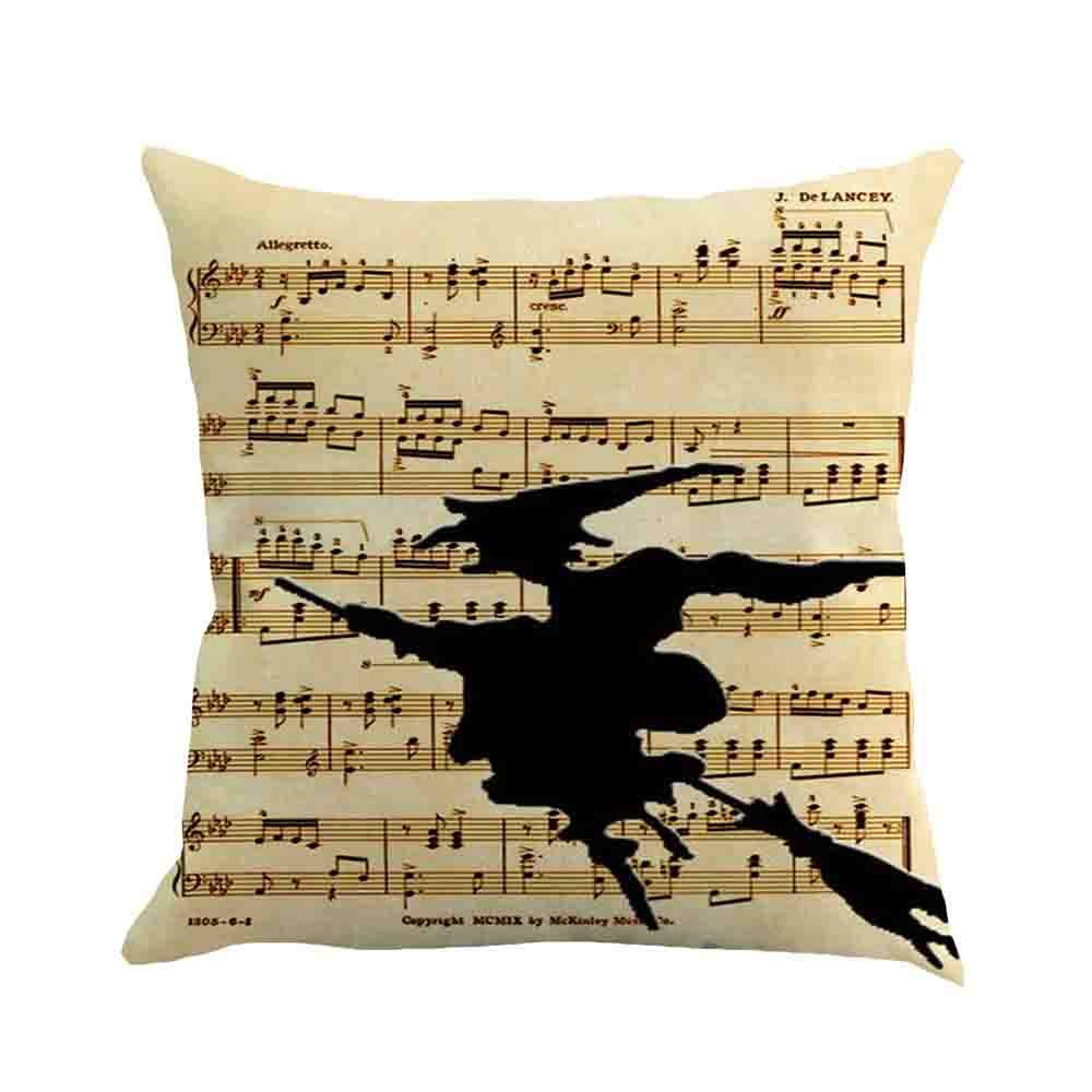 Pgojuni Halloween Pillow Case Sofa Waist Cushion Cover Pillow Case for Sofa/Couch 1pc (45X45 cm) (E)