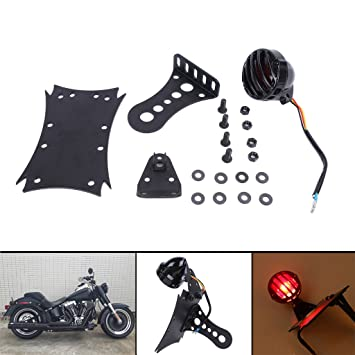 aochuang lateral para motocicleta cola luz de la matrícula Soporte para Harley Honda Yamaha Kawasaki Suzuki Chopper Bobber Custom: Amazon.es: Coche y moto