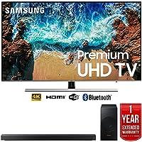 Samsung UN65NU8000 65 NU8000 Smart 4K UHD TV (2018) with Samsung HW-N550/ZA 3.1 Channel Soundbar System and 1 Year Warranty Bundle