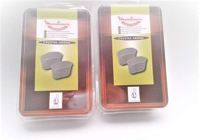 2 paquetes Moulinex filtro Filtro de agua cal filtro aw6401 F ...