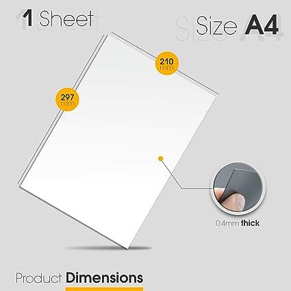A4 pizarra blanca magnética pizarrón pizarra imán del refrigerador ...
