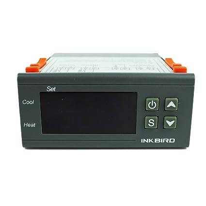 Inkbird Doble Rele 220v Temperatura de Controlador con Sonda, Refrigeración Calefaccion Termostato Digital para Calentador
