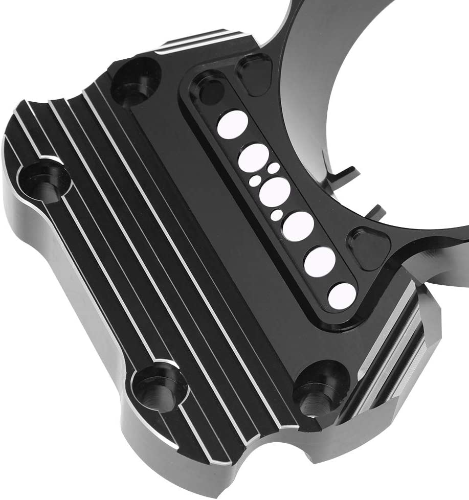 AQIMY Motorcycle Black Instrument Bracket Speedometer Relocation Cover for Harley Sportster XL883 Custom Low 1200