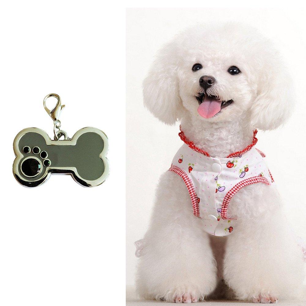 Glumes Clearance Pet ID Tag Bone Shape Tag Rugged Dog Tags with Colorful Frame Color Neon Pretty Rhinestone Custom,