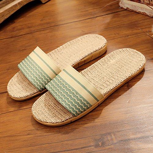 zapatillas ropa parejas verde luz habitación hembra nbsp;Zapatillas 35 estancia 36 casa piso de en verano la verano Fankou cool espeso antideslizante qf75wRI5