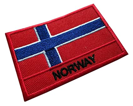 Kingdom of Norway Norwegian National Flag Sew on Patch Free Shipping