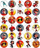 30 x Edible Cupcake Toppers – The Incredibles 2