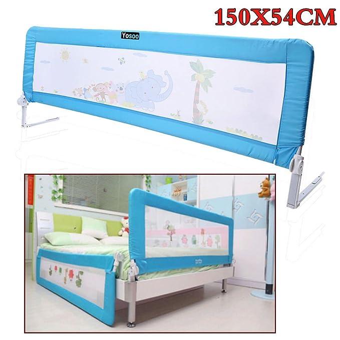 150cm/180cm Barandilla de La Cama Guardia de Seguridad para Niños, Barandilla Plegable de La Cama Infantil (Azul, 150cm): Amazon.es: Bebé