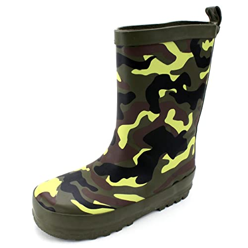 Camouflage Kids Rain Boots (7/8 M US Toddler, Camouflage)